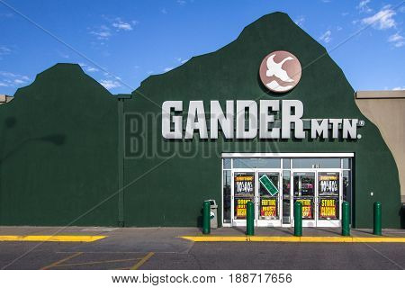 Fort Gratiot, Michigan, USA - May 30, 2017: Gander Mountain is reportedly closing 32 of it's 150 stores including the one located in Fort Gratiot, Michigan.