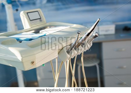 Professional equipment used in a dentist clinic.