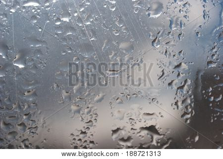 Texture Of Wet Window Glass