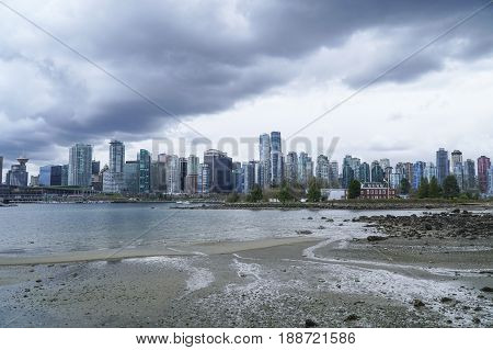 The City of Vancouver - dramatic sky -  CANADA