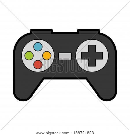 cute black Control game cartoon vector graphic design