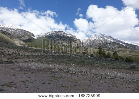 Trailhead for beginning the climb of Mt. Borah, Idaho's tallest peak in the Lost River Mountains between Challis and Mackay.