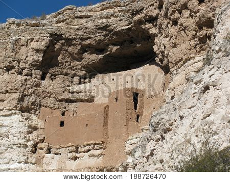 Montezuma Castle National Monument in Camp Verde area, Arizona