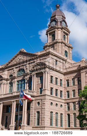 Historic Tarrant County Courthouse in Fort Worth Texas