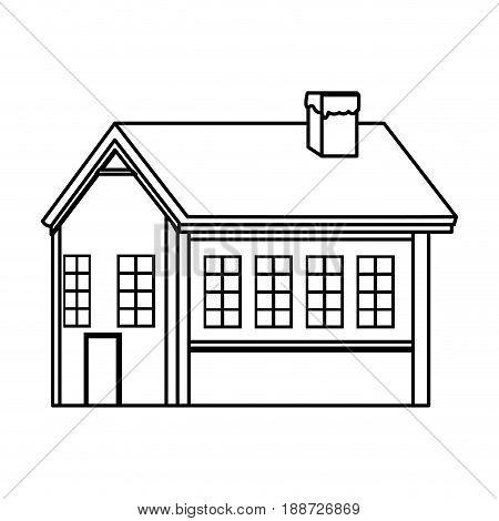cartoon christmas ginger house dessert food, outline image vector illustration