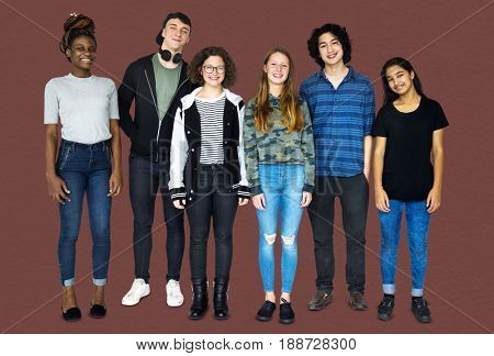 Diversity Friends Together Studio Portrait
