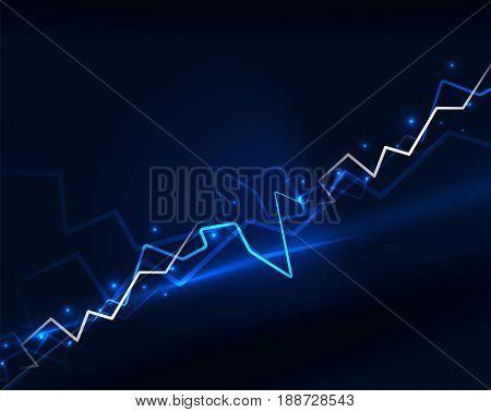 Neon blue lightning background template