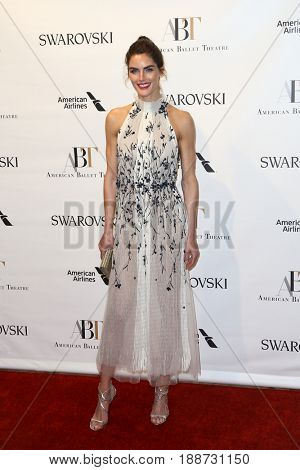 NEW YORK-MAY 22: Hilary Rhoda attends the American Ballet Theatre 2017 Spring Gala at David H. Koch Theater at Lincoln Center on May 22, 2017 in New York City.
