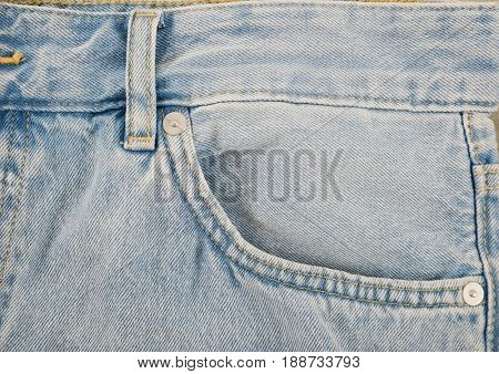 Close up of blue jeans ,Blue Jeans texture-gray background