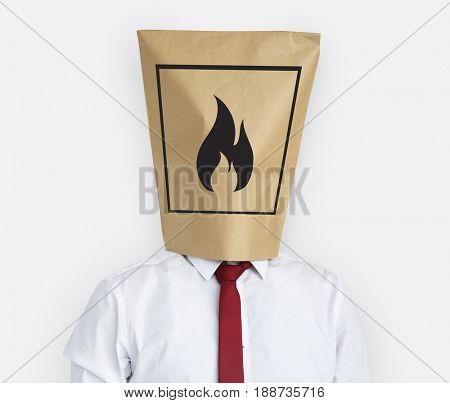 Flammable Sign Caution Package Sign Symbol