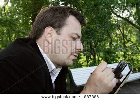 Man With Pocket Pc