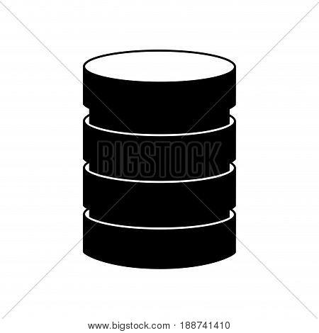 black icon Storage database disks vector graphic design