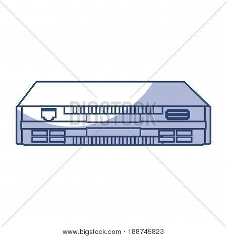 shadow blue modem cartoon vector graphic design