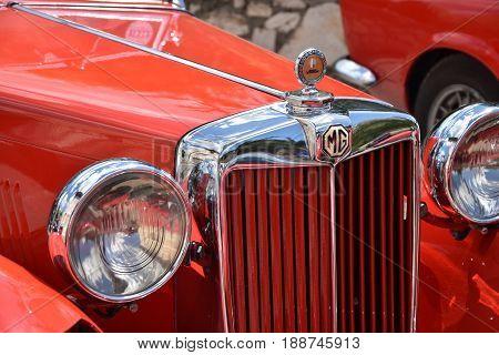 SIENA ITALY - MAY 2017: MG Retro Vintage Car