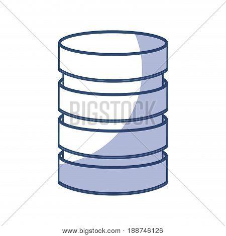 shadow blue Storage database disks vector graphic design