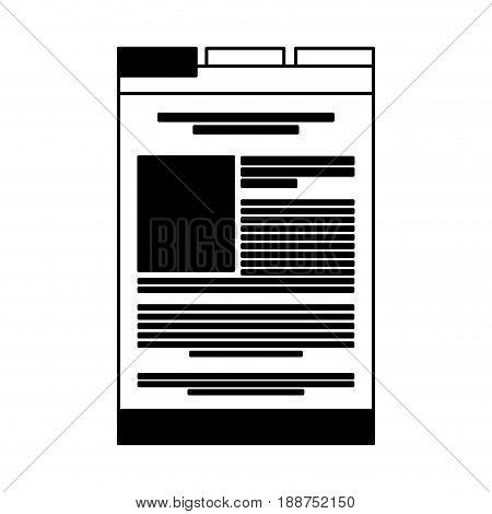 black icon web tab cartoon vector graphic design
