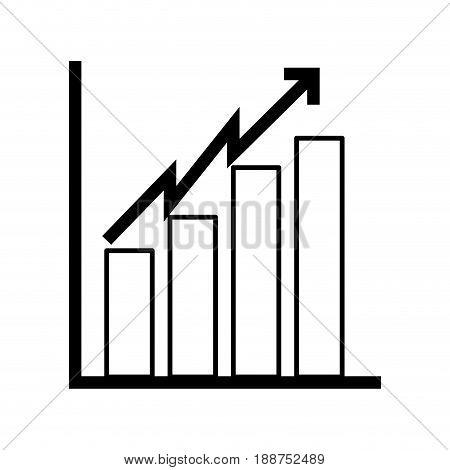 black icon bar chart icon vector graphic design