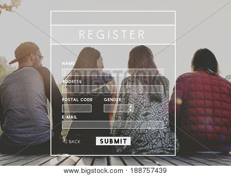 Account Login Register Form Interface