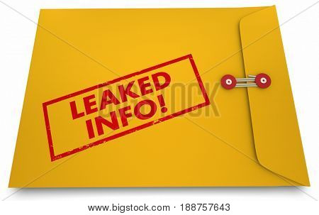 Leaked Info Classified Documents Exposed Secrets Revealed 3d Illustration