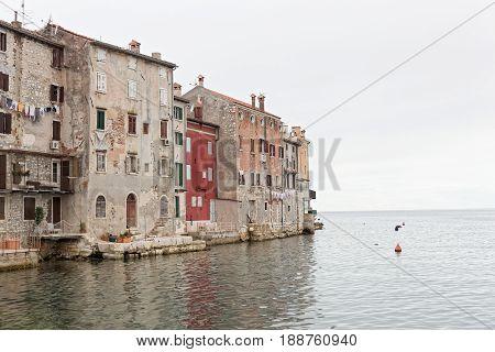 The old city of Rovinj in Istria in Croatia.