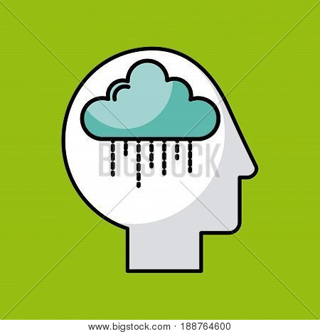 head cloud illustration icon vector desgn graphic
