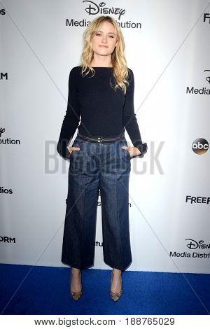 LOS ANGELES - MAY 21:  Virginia Gardner at the 2017 ABC/Disney Media Distribution International Upfront at the Walt Disney Studios on May 21, 2017 in Burbank, CA