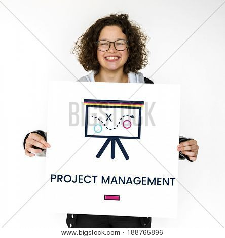 Project Management Strategy Planning Evaluation Graphic