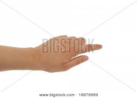 ein Foto von Hand with Clipping paths