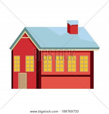 cute sweet ginger house food christmas vector illustration