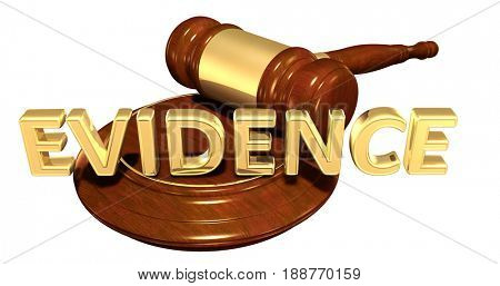 Evidence Law Concept 3D Illustration