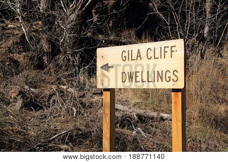 Gila Cliff Dwellings National Monument in the Gila National Forest, New Mexico