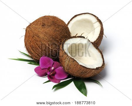 arrangement with coconuts