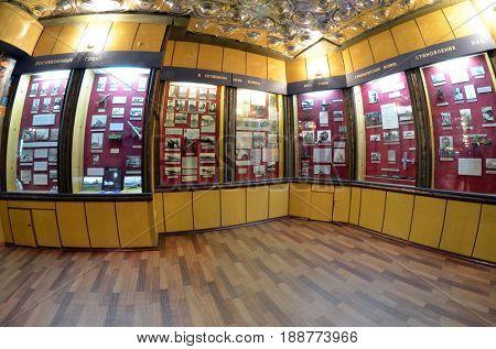 History of Soviet air-defense.Museum of former Soviet  anti-ballistic missile testing range Sary Shagan. May 8, 2017. Priozersk. Kazakhstan
