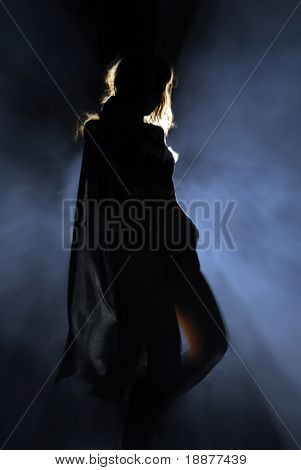 Darkly woman in the night. Good use for party posters