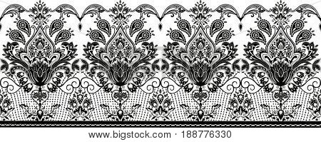 Seamless lace. All elements and textures are individual objects. Illustration scale to any size.