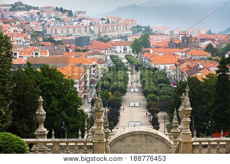 View of Lamego city, northern Portugal.