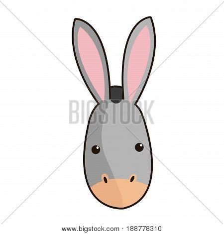 donkey face manger animal cartoon image vector illustration