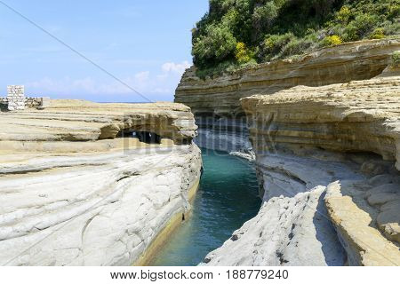 Canal d'amour in Sidari - Corfu island in Greece