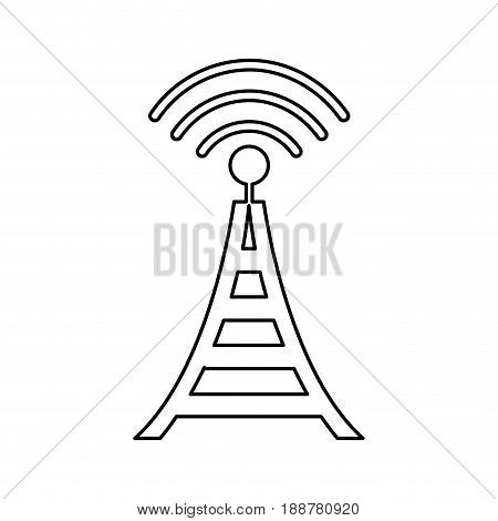 radio tower broadcast transmission icon vector illustration