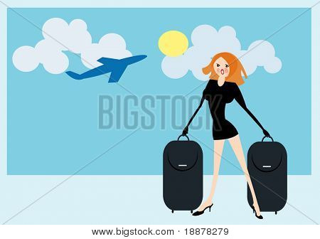 vector image of travel concept