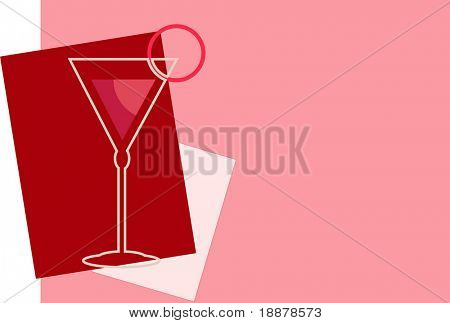 vector image of cherry juice, may be use like background for menu in cafe