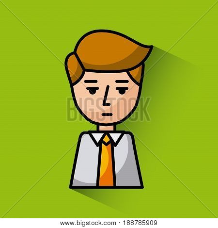 tired or disappointed young businessman image vector illustration design