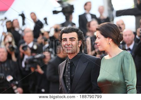 Monique Akin and Fatih Akin  attend the 70th Anniversary of the 70th annual Cannes Film Festival at Palais des Festivals on May 23, 2017 in Cannes, France.
