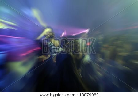 clubbing people in nightclub. good use like background