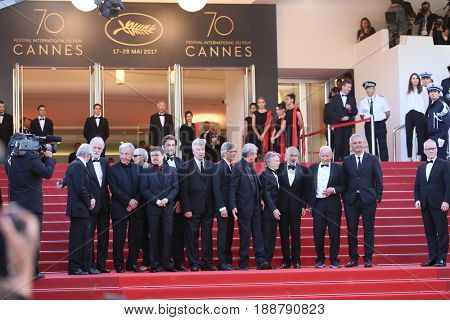 Pedro Almodovar,  Michael Haneke, Bille August, Nanni Moretti, Jane Campion attend the 70th Anniversary of the 70th annual Cannes Festival at Palais des Festivals on May 23, 2017 in Cannes, France.