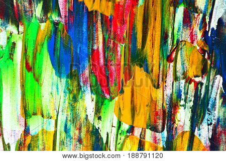 Painting texture with brush strokes super closeup - abstract background