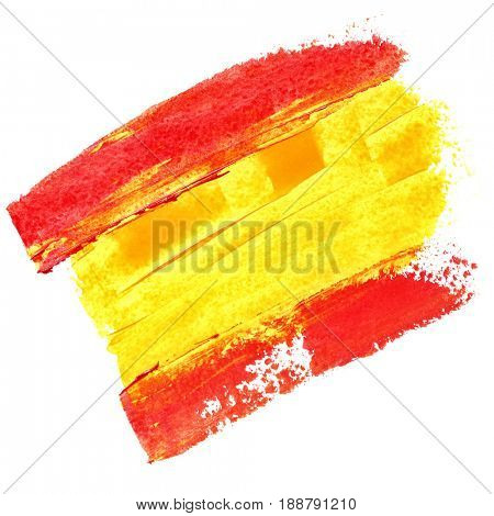 Flag of Spain with paint