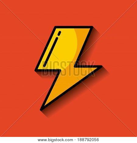 lightning ray or bolt  image vector illustration design