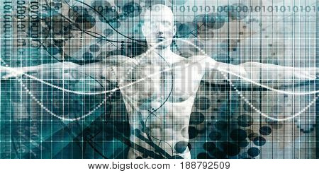 Healthcare Technology with Advanced Scanning Diagnosis Concept 3D Illustration Render