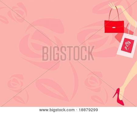 imagem vetorial de mulher com bolsa